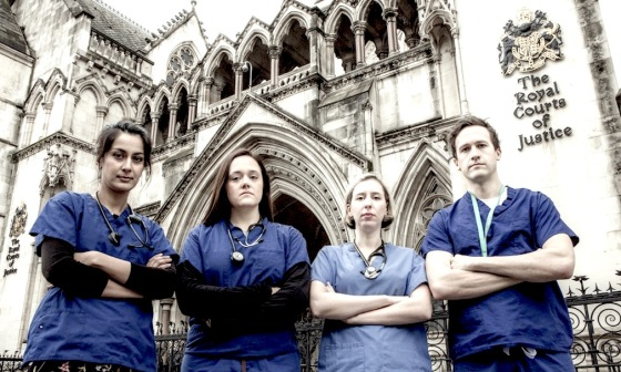 Doctors, Group arch with court justice logo  1